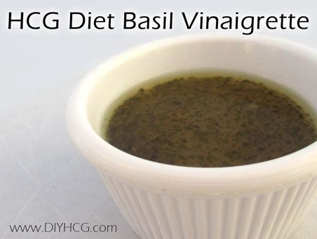 Most HCG salad dressing recipes are boring and bland... but not this one! This one is packed with flavors of basil and garlic.... yum! www.diyhcg.com