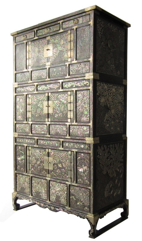 Antique Korean Mother of Pearl Inlay Chest