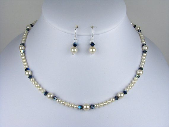Bridesmaid Necklace Set Pearl Necklace by TwoBeWedJewelry on Etsy, $52.00