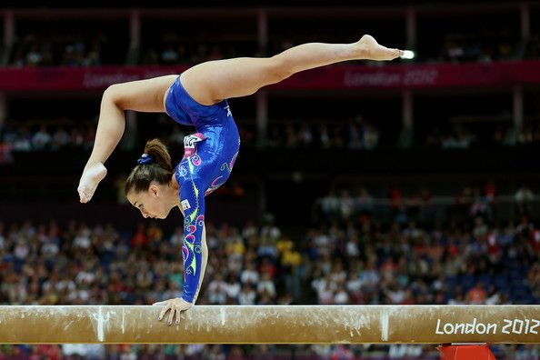 Carlotta Ferlito of Italy competes on the balance beam in the Artistic Gymnastics Women's Individual All-Around final on Day 6 of the London 2012 Olympic Games at North Greenwich Arena on August 2, 2012 in London, England.