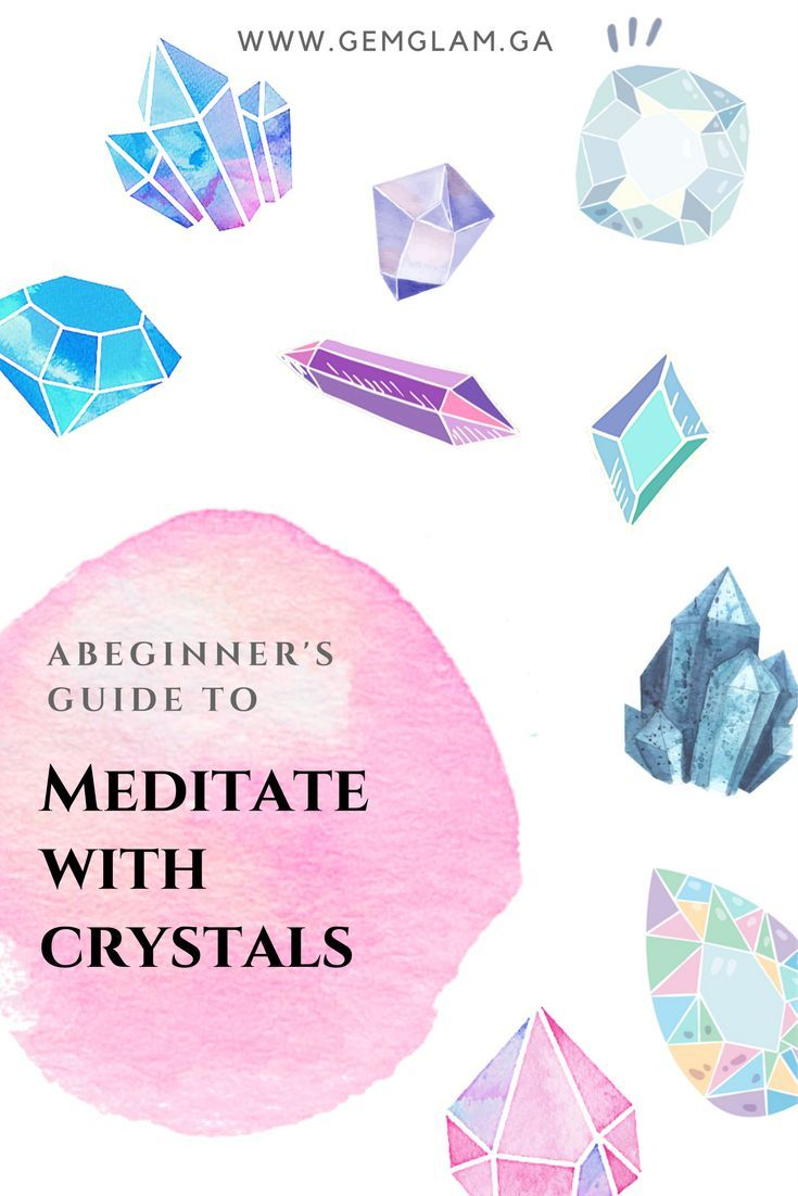 A Beginner's Guide To Meditate With Crystals  meditate // third eye // chakra // crystal healing // meditate with crystals // meditation // how to meditate //  meditate for beginners // meditate guide // crystals for meditation // amethyst // clear quartz // cathedral quartz // celestite // lapis lazuli //