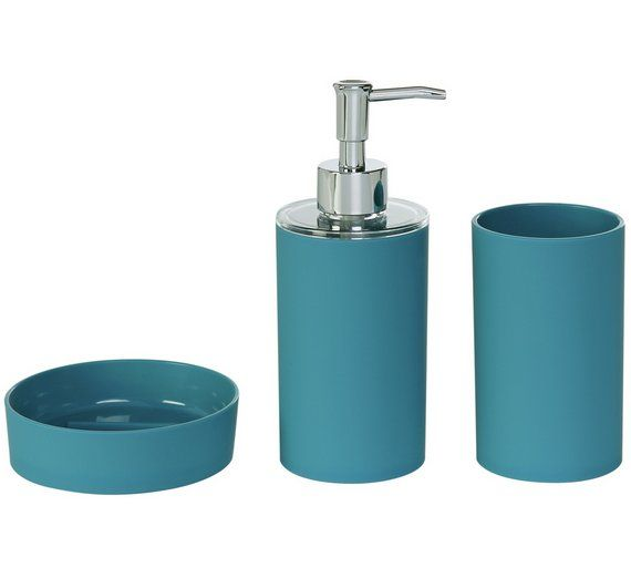 25 best ideas about teal bathroom accessories on for Bathroom accessories argos