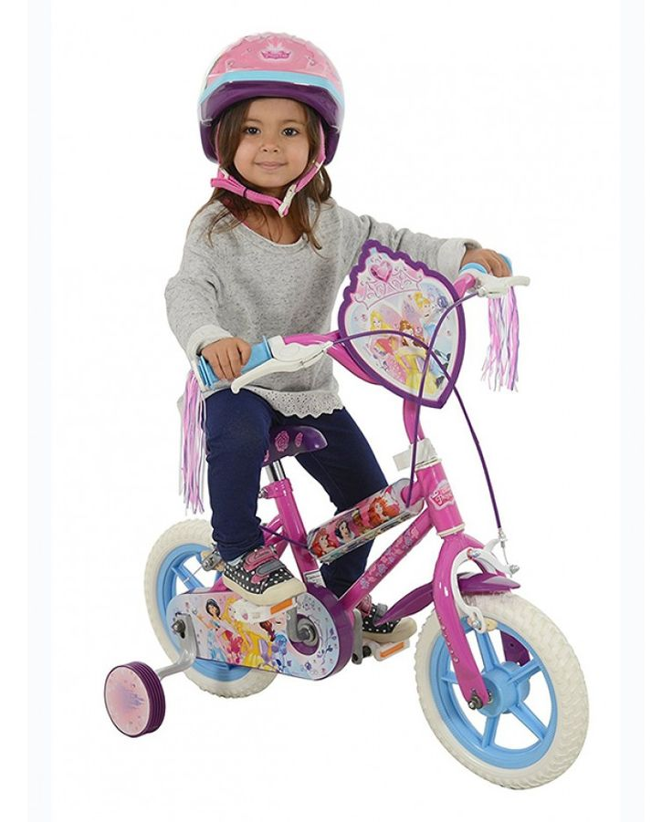This official Disney Princess bike features pretty Disney Princess themed graphics all over it as well as colourful tassels on the handlebars. The handlebars and seat can also be adjusted in height and the stabilisers can be easily removed once your little one is ready to go it alone, making it an ideal first bike that can grown with your child.
