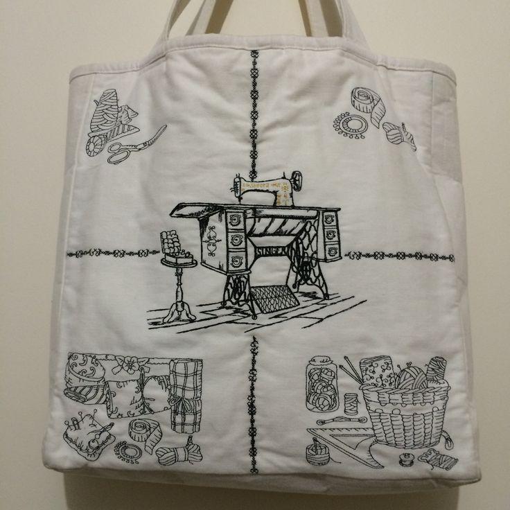 Machine Embroidered Tote