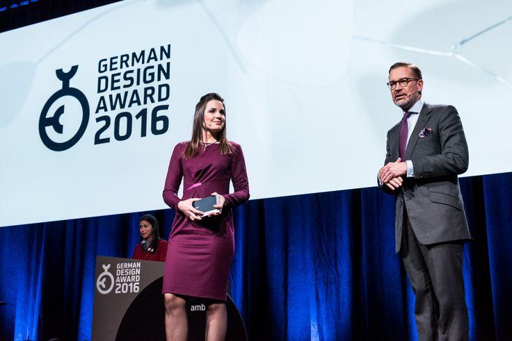 Host Julia Bauer (N24) and Andrej Kupetz, Managing Director German Design Council.