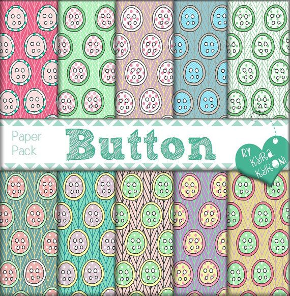 Button Multicolored Pattern Digital Papers... scrapbooking paper,Printable,19 jpg files   - INSTANT DOWNLOAD