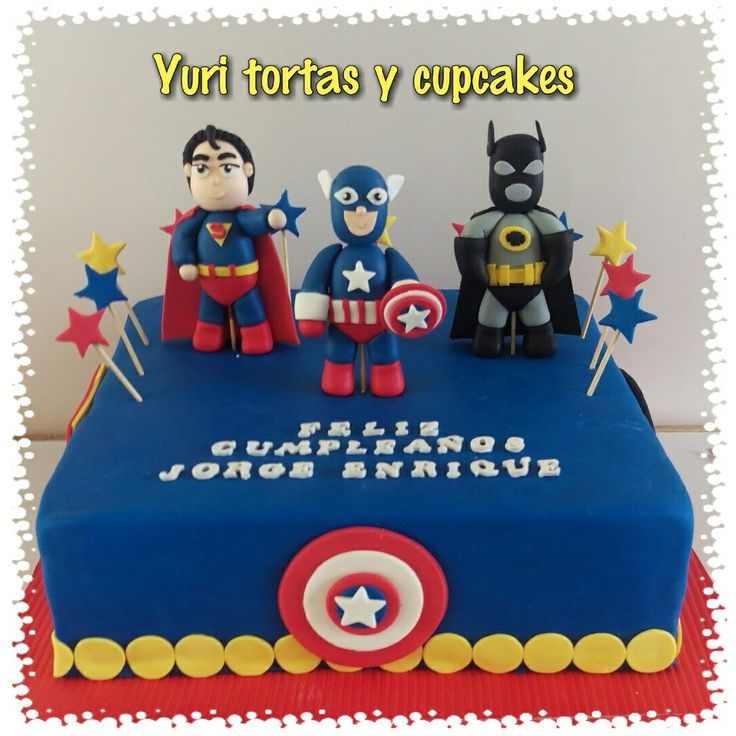 Torta de súper héroes