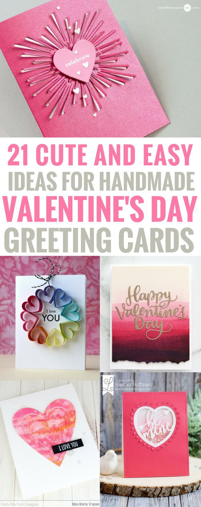 #Valentinesday #papercrafts #greetingcard DIY Valentines Day Cards - Easy Handmade Cards for Him and Her, Boyfriend, Husband Kids, Friends and Teens - Funny, Romantic, Printable Ideas for Making A Unique Homemade Valentine Card - Step by Step Tutorials and Instructions for Making Cute Valentine's Day Greeting Cards
