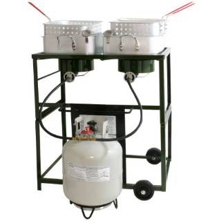 Check out the Buffalo Tools DBCOOK Sportsman Series Double Basket Outdoor Cooker and Fryer with Double Burner