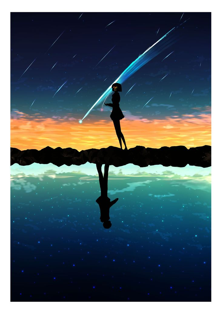 How To Put A Gif As Your Wallpaper On Iphone Kimi No Na Wa Posters Kimi No Na Wa Your Name Anime Y