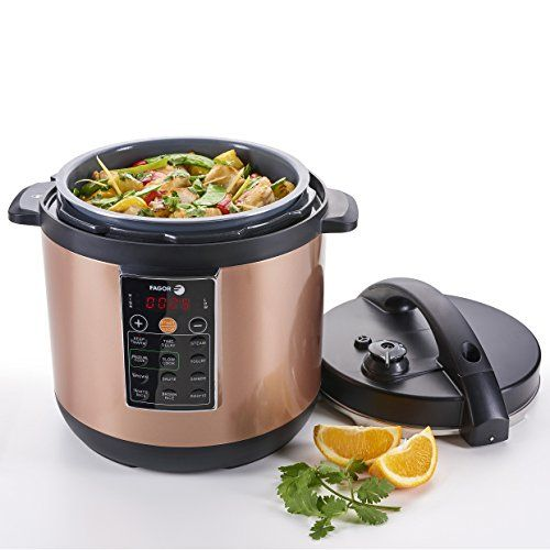 Fagor LUX Multi-Cooker, 8 quart, Copper - Electric Pressure Cooker, Slow Cooker, Rice Cooker, Yogurt Maker and more (935010053) // http://cookersreview.us/product/fagor-lux-multi-cooker-8-quart-copper-electric-pressure-cooker-slow-cooker-rice-cooker-yogurt-maker-and-more-935010053/  #cooker #pressure #electric