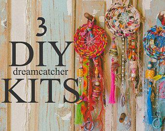 Dreamcatcher bricolaje, hacer un atrapasueños, Navidad Ideas, decoración navideña, DIY Navidad regalos, adornos de Navidad hechos a mano, DIY artes