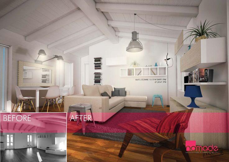 Relooking di un soggiorno che grazie ai nuovi arredi, ed ai toni caldi scelti, ha cambiato completamente aspetto, connotandosi di un gusto nuovo e accogliente. #nomaderelooking #nomadearchitettura#relooking#ristrutturare #interiors#interiordesign #italiandesign #livingroom