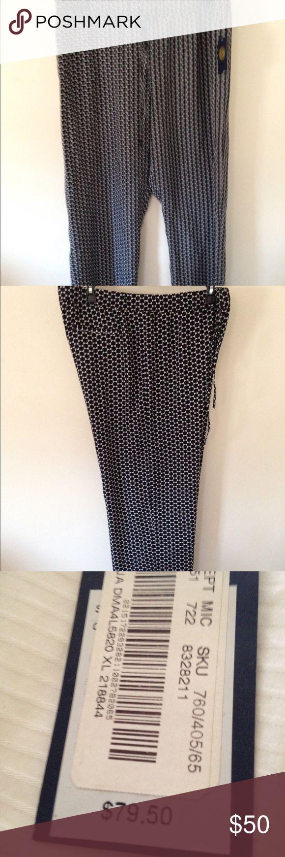 Blue and white soft pants - BRAND NEW NEVER WORN soft pants!! Adrienne Vittadini Pants Wide Leg