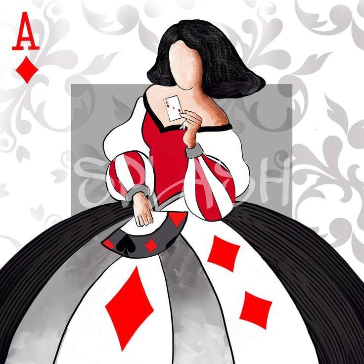 Cuadro Menina poker moderna decorativa abstracto