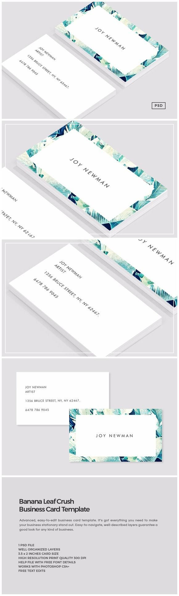 12954 best best business cards images on pinterest business card banana leaf crush business card by the design label on creativemarket alramifo Gallery