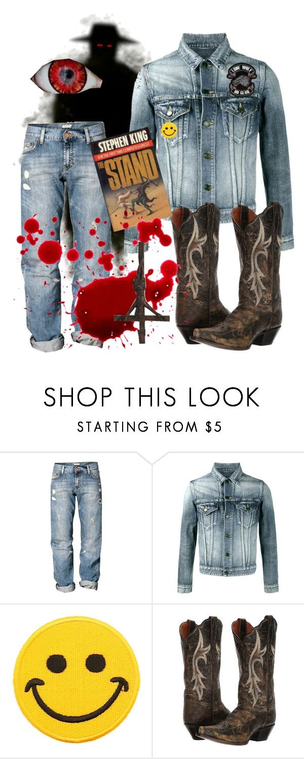 """""""Randall Flagg-- The Stand"""" by rhymelawliet ❤ liked on Polyvore featuring H&M, Yves Saint Laurent, Hollywood Mirror, Dan Post, NOVICA, men's fashion, menswear, novel, horror and StephenKing"""
