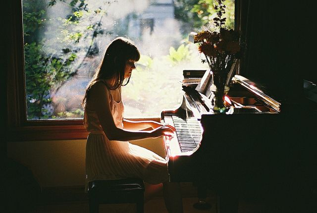 """The pianokeys are black and white but they sound like a million colors in your mind"" ― Maria Cristina Mena"