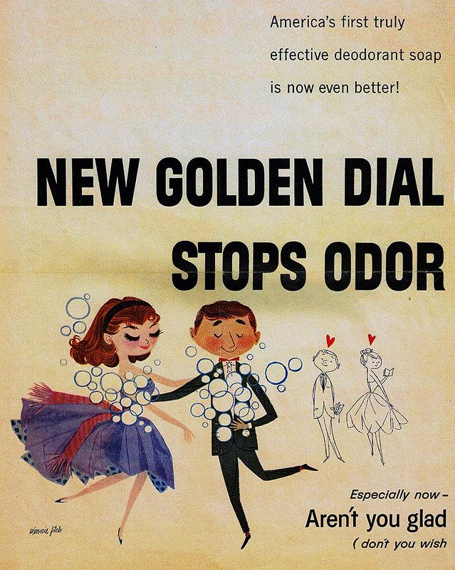 vintage Dial soap ad Illustrated by Winnie Fitch, 1950s