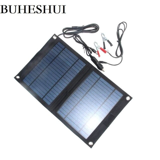 Buheshui 18v 12v 12w Portable Solar Panel Charger For 12v Car Boat Motor Battery Charger Freeshipping Review Solar Power House Solar Panels Solar Roof Tiles