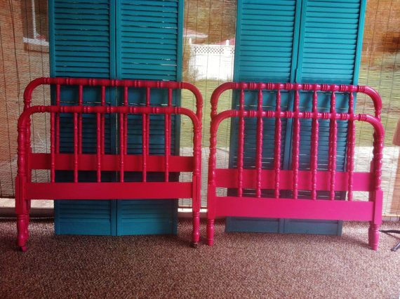 pair hot pink twin antique jenny lind beds by on etsy - Jenny Lind Bed