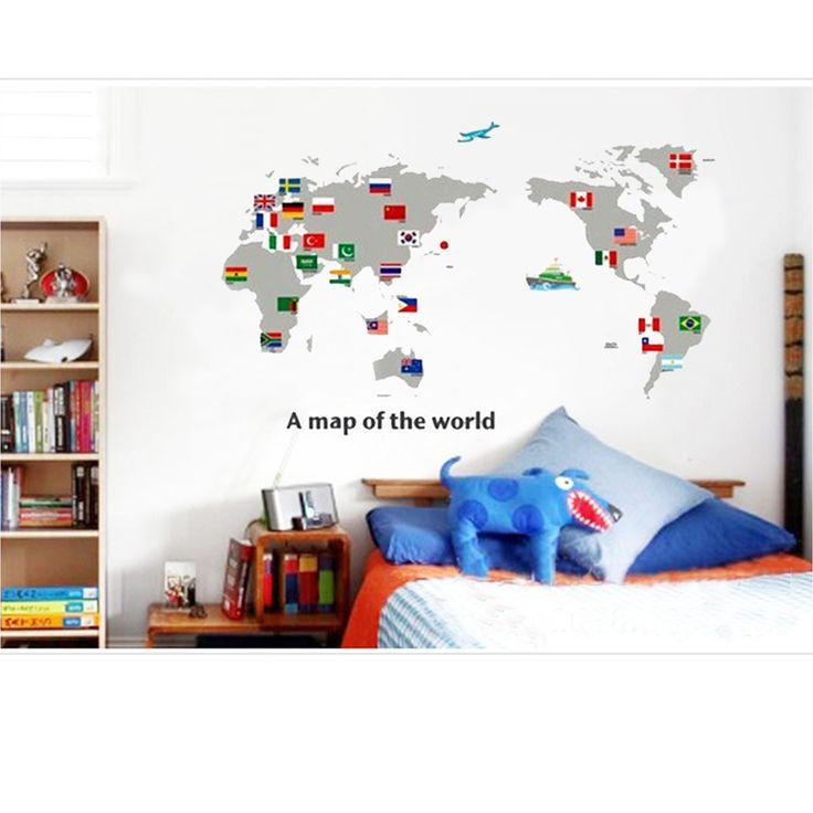 World Map Removable Room Vinyl Decal Art Wall Home Decor Kids Sticker http://www.ebay.com/itm/World-Map-Removable-Room-Vinyl-Decal-Art-Wall-Home-Decor-Kids-Stickers-Mural-/251671803725