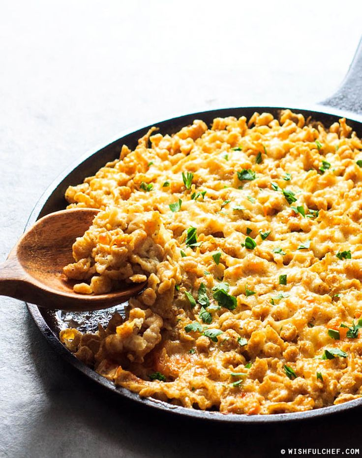 Oven-Baked Whole Wheat Spaetzle and Cheese - A German-style Mac 'N Cheese // wishfulchef.com