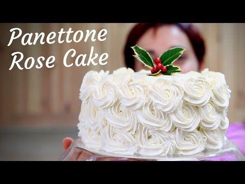 RICETTA PANETTONE ROSE CAKE pronto in 10 minuti - 10 Minutes Panettone Rose Cake Recipe - YouTube