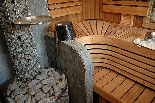 Оформление интерьера бани (Фото) | Дизайн комнаты отдыха в бане ...