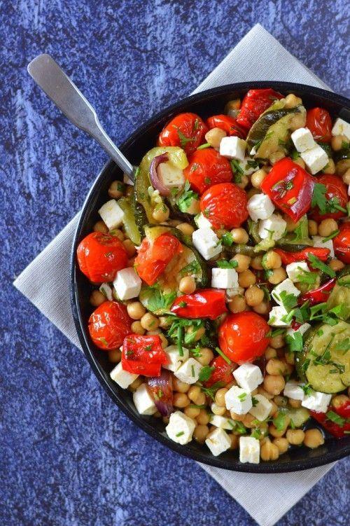 Meleg csicseriborsó-saláta recept