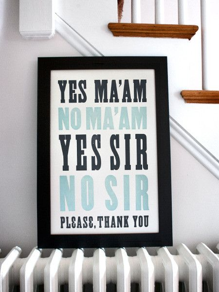 General Manners No. 1 Print ... perfect for a southern home but would really love this as decor for a little boy's room.
