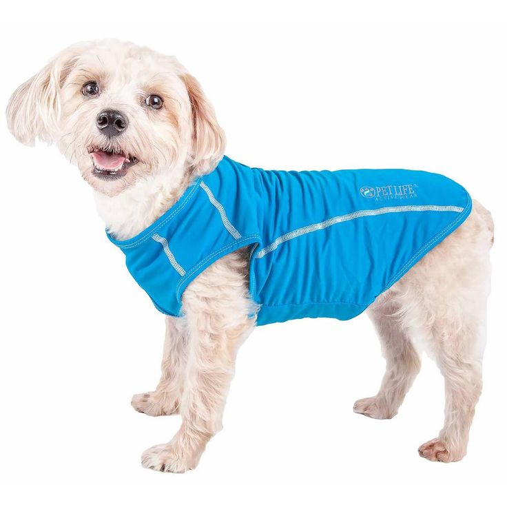Pet Life X Large Blue Active Racerbark Performance Active Dog Tank