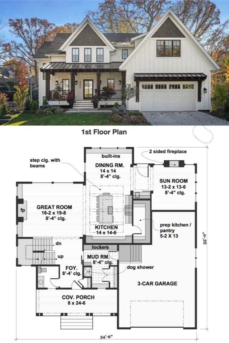 42 Stunning Kitchen Layout Ideas In 2020 House Plans Farmhouse Family House Plans House Layout Plans