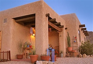 Adobe house. Dream number two.  Could b this or an apartment just something other than what we have now