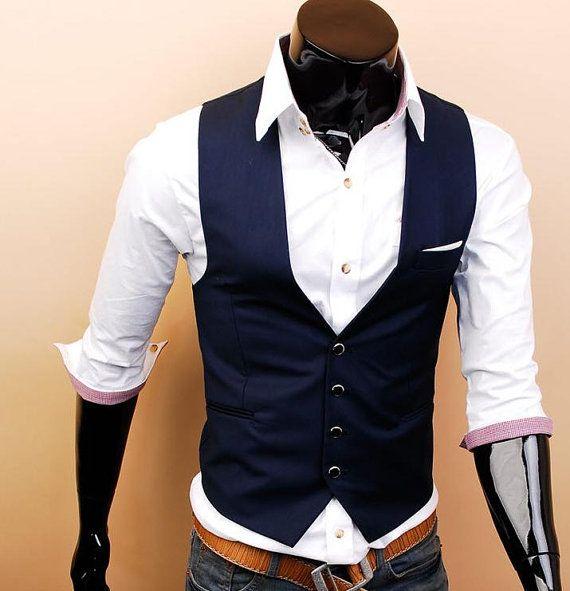 Gentleman Mens Vest bridesman vest groomsman vest by beatbbcustom, $29.00