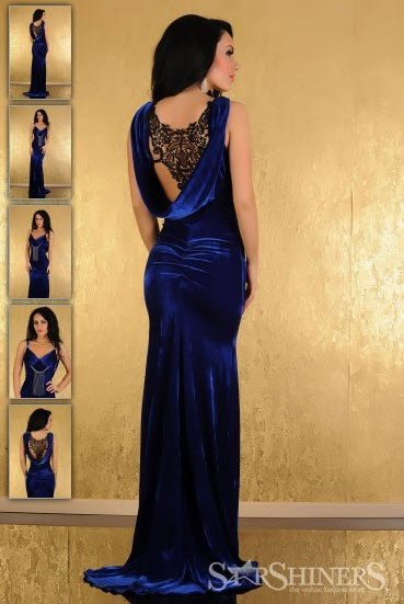 Rochii de seara albastru fosforescent - Rochie Magnific Look Blue