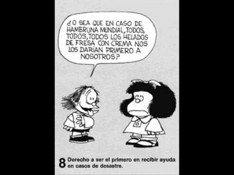 ▶ Cancion : Yo quiero- Derechos del niño - YouTube  (con Mafalda)