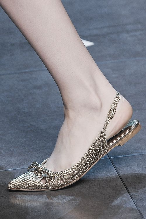 pivoslyakova:  Shoe detail at Dolce & Gabbana   Spring 2014