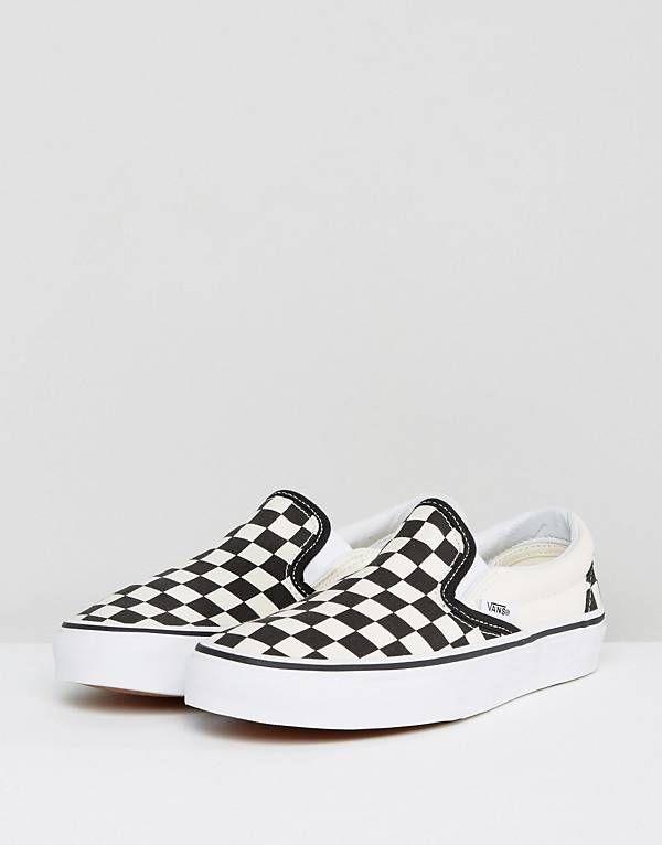 ecf0f0ad10 Vans Classic Slip On Sneakers In Checkerboard