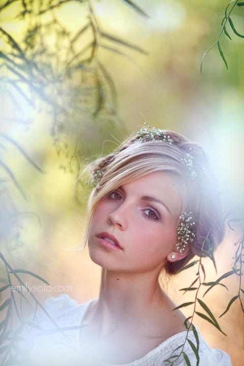 Lily - Emily Soto | weeping willow and flowers in her hair...the makings of a lovely photo shoot