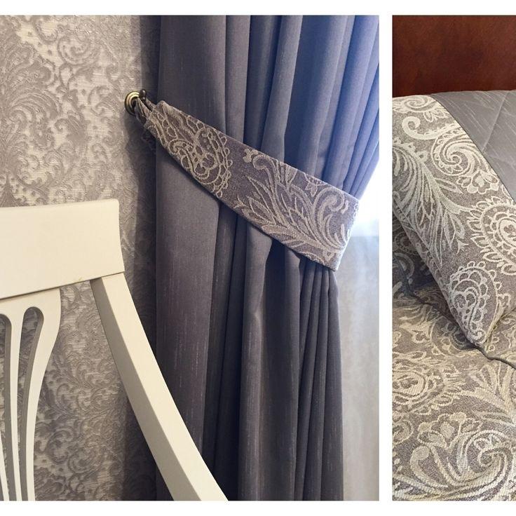 #спальня, оформленная шениллом KELSO с жаккрадовым орнаментом #пейсли, коллекция BALENSIAGA #galleria_arben. Дизайн @kekukhnatalia #fabric