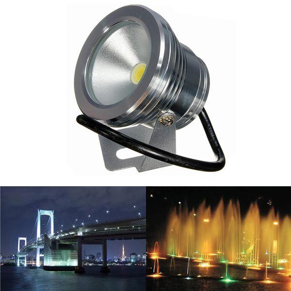 10W Underwater LED Flood Wash Waterproof Spot Light Pool Outdoor 12V