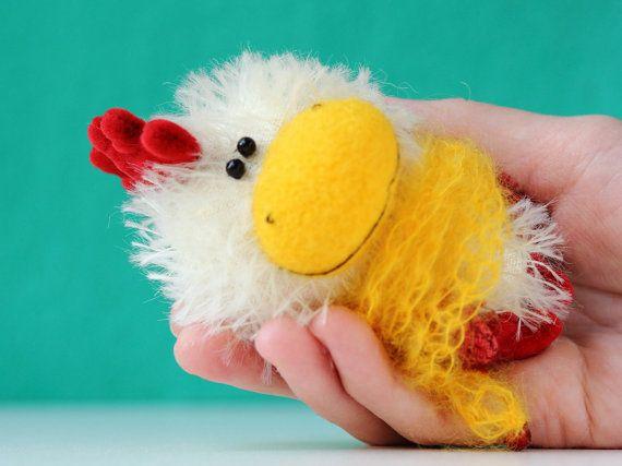 Chicken  Symbol of the New Year 2017  OOAK by MiniatureTeddyBears