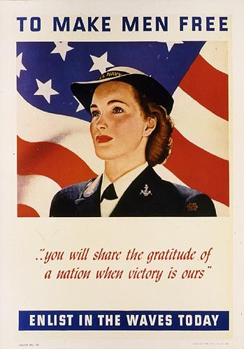 US Navy propaganda for the WAVES (including a nifty 1940s pay scale - Once Upon a Time in War