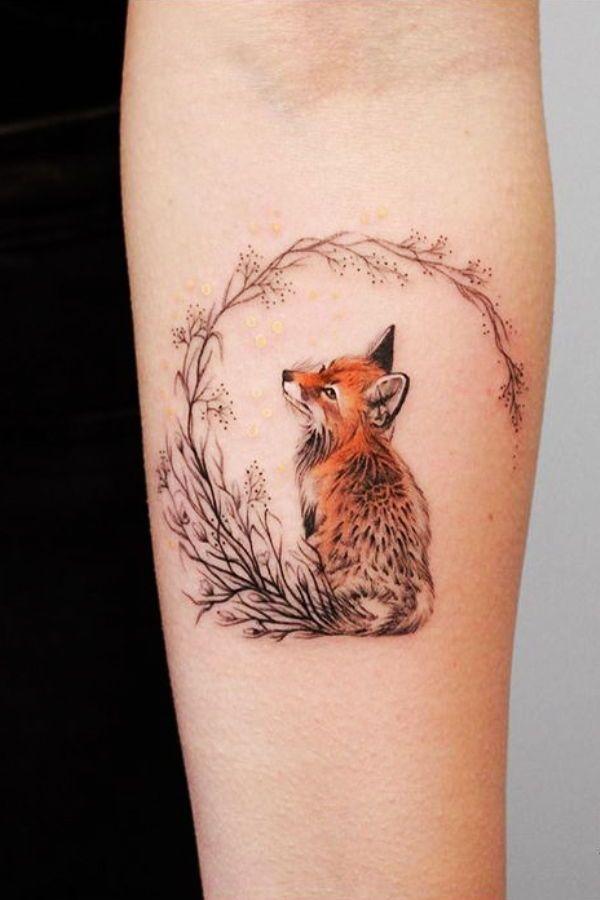 Fox Tattoo Small Tattoo For Women Watercolor Tattoo Ozilook Tattoo Smalltattoo Tattooforwomen Tattoos Trendy Tattoos Pretty Tattoos