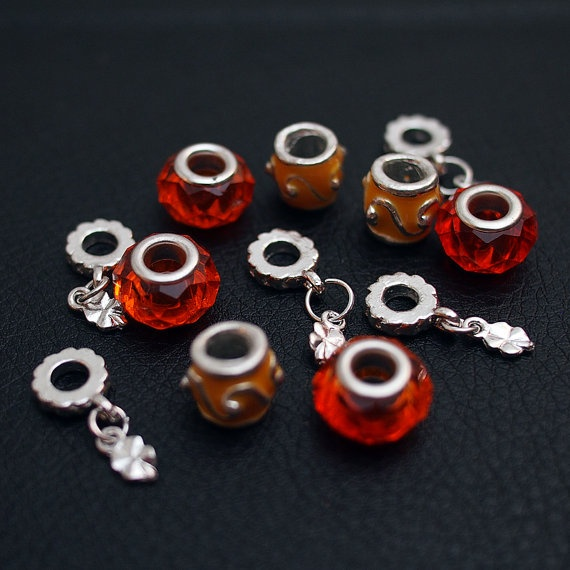 Beads for bracelet by BlackPearlRain on Etsy, $13.95