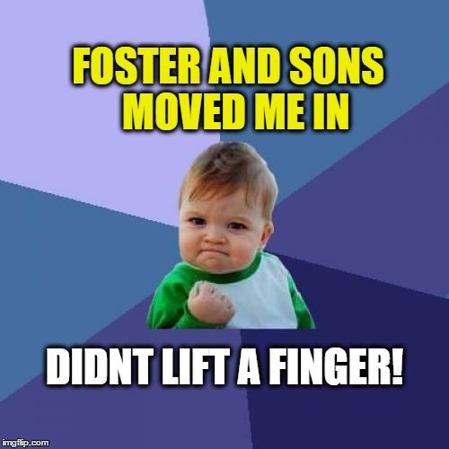 double chain wallet Foster and Sons Removals will lift everything for you