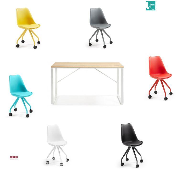 Scopri la sedia girevole più colorata e comoda con la pratica scrivania per la cameretta e lo studio della tua casa. ...