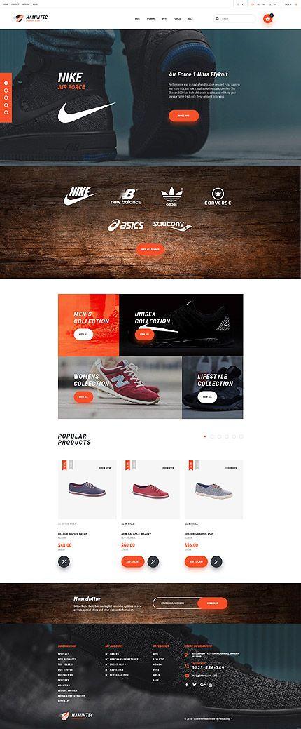 Template 61157 - Hamintec Shoes Responsive PrestaShop Theme with Carousel, Slider, Video
