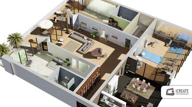 216 best images about 3d housing plans layouts on for Floorplanner for restaurants